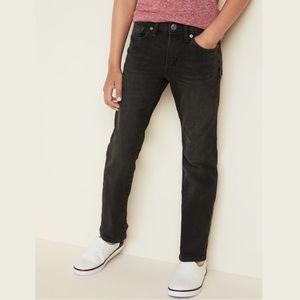 OLD NAVY Straight Built-In Flex Black Jeans